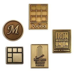 Lapel Pins Die Struck w/ Antique Bronze Finish - Made in USA