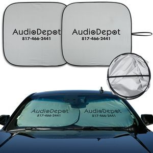 DX -Line Economy Sunshade With Double-Loop Two-Piece Design (Opaque Silver)