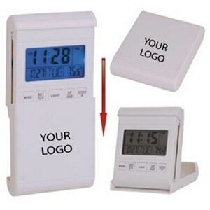 Travel Alarm Clock W/LED Back Light