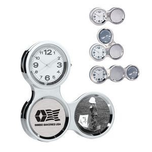 Multi-Angle Chrome Chain Link Clock