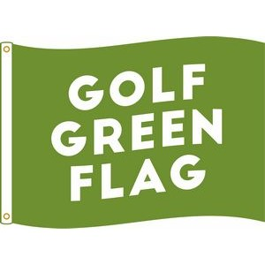 Golf green flag