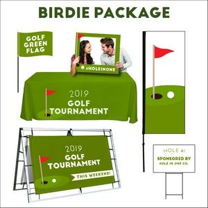Golf tournament Birdie sign package