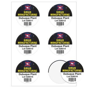 "Round Quick & Colorful Sheeted Label (3"" Diameter)"