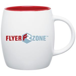 14oz Joe Mug (Matte White & Red)