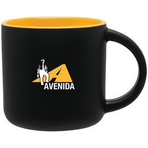 14oz Minolo Mug (Matte Black & Yellow)