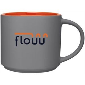 16oz Monaco Mug (Matte Storm Gray & Orange)