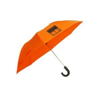 "The 41"" Auto Open Folding Umbrella with Hook Handle"