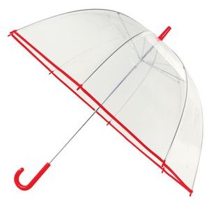 "The 47"" Clear Umbrella with Hook Handle"