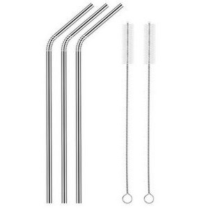 Bent 6mm Steel Straw