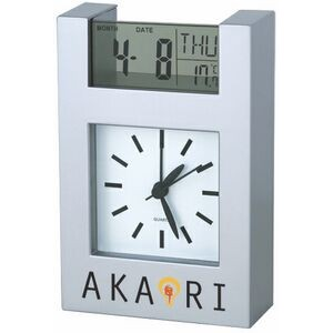 Analog Clock with Digital Date Display